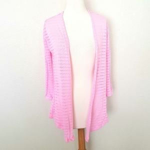 H&M Pink Lightweight Open Front Cardigan Sweater